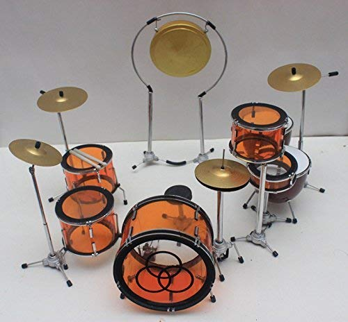 Miniature JOHN BONHAM LED ZEPPELIN ORANGE DRUM SET   B07PG3TXVC