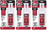 J-B Weld 50112 ClearWeld Quick-Setting Epoxy Syringe - Dries Clear - 25 ml (3 Count)