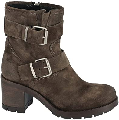 PAOYAMA Boots Suede 2 Boucles Semelle crantée CAMOSCIO Taupe