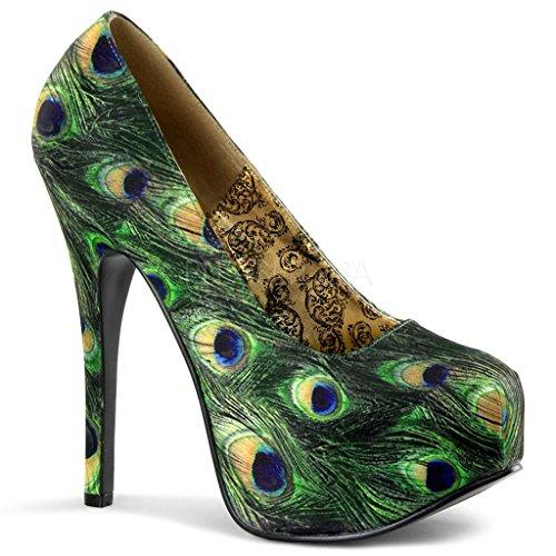 Bordello Shoes - Teeze Peacock Stiletto Platforms tAmDqSklc