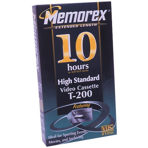 Memorex 10-Hour VHS Videocassette (Discontinued by Manufacturer) by Memorex