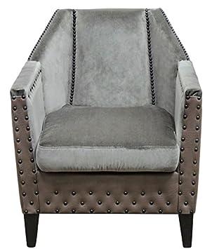 Casa-Padrino sillón de Lujo Gris/marrón / Negro 61 x 71 x H ...