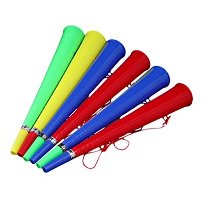 BESPORTBLE 6PCS Plastic Vuvuzela Stadium Horns Trumpet Toys Football Horn Trumpets Bugle Toy for Games Carnival (Mixed Color): Sports & Outdoors