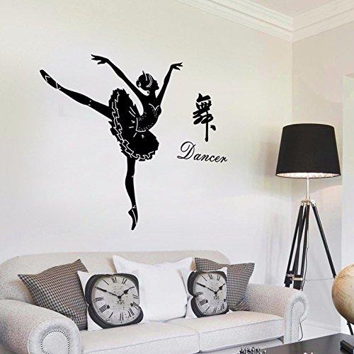 Ghaif Children dancing girls schools dance room primary school classroom decor wall art black dance 135154CM