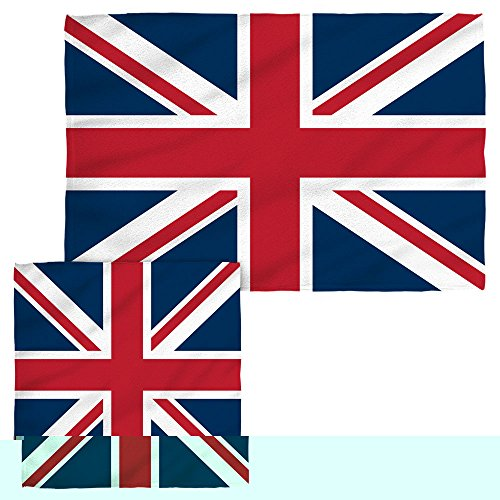 Union Jack Face Hand Towel Combo White