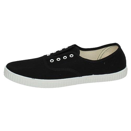 FLOSSY 63 Zapatillas DE Lona Hombre Zapatillas Negro 40: Amazon.es: Zapatos y complementos