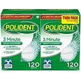 Polident 3-Min Mint Antibacterial Denture Cleanser, Effervescent Tabs (240 ct.)