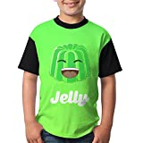 AOOIUU Jelly YT Logo Novelty Comfy T-Shirt Short Sleeve Tops for Kids Youth Boys and Girls