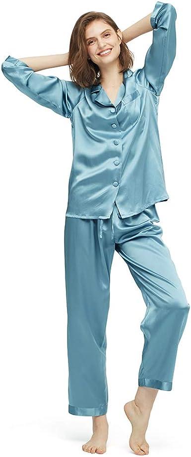 Lilysilk Pijamas Mujer De Seda Estilo Clásico 100% Seda De Mora Natural De 22 Momme