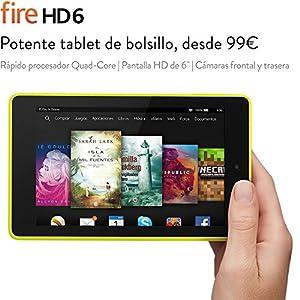 """Fire HD 6, pantalla HD de 6"""" (15,2 cm), Wi-Fi, 8 GB (Lima) - incluye ofertas especiales"""