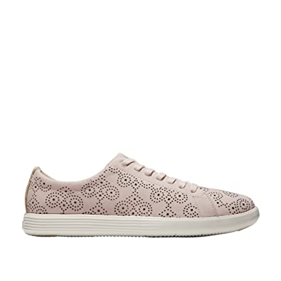 49b102eea51 Cole Haan Women s Grand Crosscourt Perforated Sneaker 6.5 Peach Blush  Perforated-Optic White
