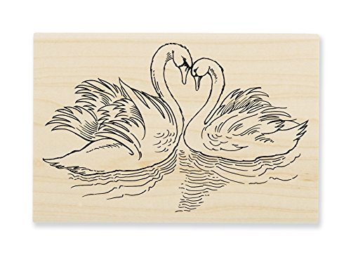Delicate Swan - STAMPENDOUS Swan Pair Rubber Stamp
