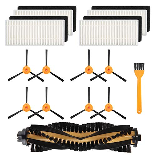 Mochenli 8 Brushes + 4 HEPA Filters + 1 Main Brushes for Ecovacs DEEBOT N79 N79s Robotic Vacuum Cleanr,Side Brushes,Filter,Main Brushes Accessoies Replacment Parts Kit