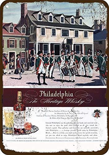 - Yilooom 1945 Philadelphia Whisky Vintage Look Replica Metal Sign 7