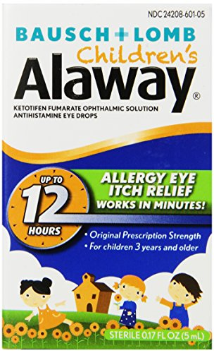 Bausch + Lomb Alaway Children's Antihistamine Eye Drops, 0.17 Ounce Bottle