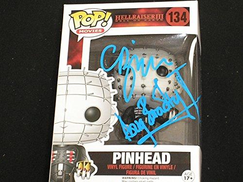 CLIVE BARKER & DOUG BRADLEY Dual Signed PINHEAD Funko Pop Figure Hellraiser Autograph BAS BECKETT COA