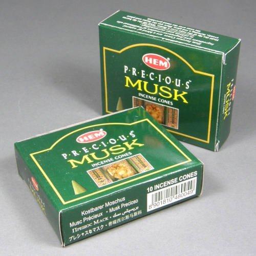 Hem Precious Musk Incense Dhoop Cones、10円錐のペアボックス – (in200 ) B007XH1GEC