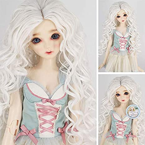 High Temperature Synthetic Fiber Long Straight Hair Wig for 1//3 BJD SD Doll
