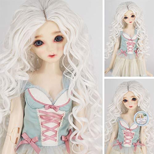 BJD Doll 1//4 7-8 Wig Curly Hair Braid High Temperature Fiber For Girl Grey