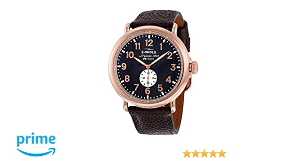 63e8f291637 Amazon.com  Shinola The Runwell Mindnight Blue Dial PVD Rose Gold Stainless  Steel Mens Watch 11000168  Watches