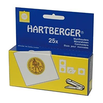 Etuis numismatiques carton (50x50) à agrafer, paquet de 25 [Lindner 8330 015] - pour les pièces jusqu'à Ø: 15 mm