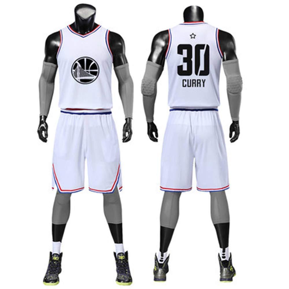 blanc 30 petit Générique T-Shirt NBA 2019 All-Star Basketball Suit Uniforme De Jeunesse Tissu Nombre De Broderies Pull De Sports De Jersey blanc 30-S