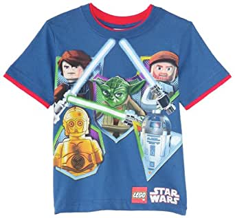Star Wars Lego Big Boys' Short Sleeve Tee, Royal, Medium