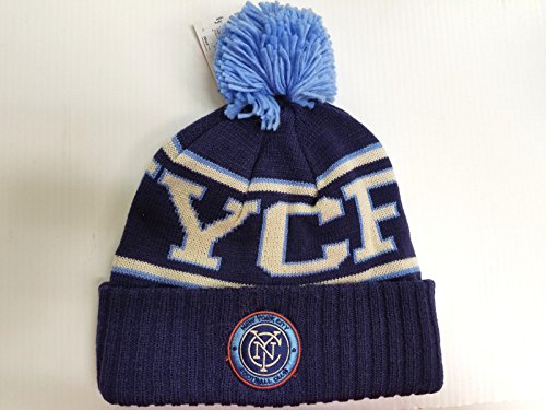 New York City FC Football Club Adidas Cuffed Pom Knit Beanie Hat – DiZiSports Store