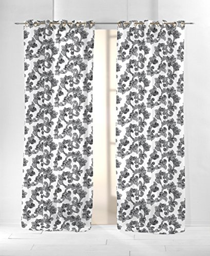 Martina Home Colonia Cortina con Ollaos, Tela, Gris, 29x2x38 cm: Amazon.es: Hogar