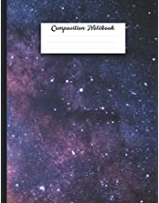 Composition Notebook: Wide Ruled Paper Notebook Journal | Back to School Supplies for Students and Teachers / Pretty Gold Purple Turquoise Liquid Marble /lined page with margin.Useful for school, university, workbook home-Large Size 8.5 x 11 in, 120