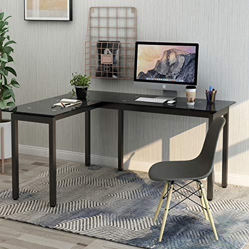 ModernLuxe WF038812BAA L-Shape Home Office Corner Computer Desk (Corner Custom Desk)