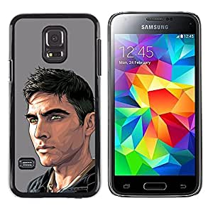 Shell-Star Arte & diseño plástico duro Fundas Cover Cubre Hard Case Cover para Samsung Galaxy S5 Mini / Samsung Galaxy S5 Mini Duos / SM-G800 !!!NOT S5 REGULAR! ( Dude Man Painting Art Handsome )
