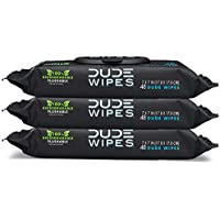 (3 X 48 Wipes) DUDE Wipes Flushable Wet Wipes Dispenser with Vitamin-E & Aloe for at-Home Use, Septic and Sewer Safe