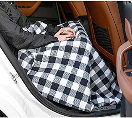 57x 39 Inch leveraYo Electric Heated Car Blanket 12V Polar Fleece Blanket Heated Blanket for Car Trucks Winter Cold Weather Green Car Blanket