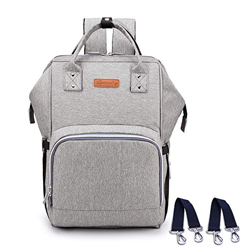 Diaper Bag Backpack with USB Charging Port, Waterproof Baby Nappy Changing Bag with Large Capacity, Stylish and Durable for Travelling with Baby