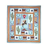Patch Magic Twin Cowboy Quilt, 65-Inch by 85-Inch