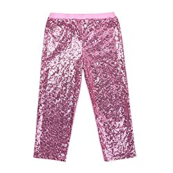 Girls Fish Scales Sequins Stretchy Leggings