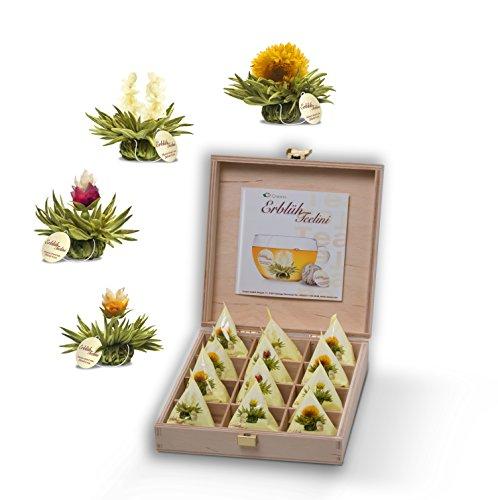"""12 선물 상자 """"화이트 티-맛"""", 1ce_e 팩 (1 x 60 g)의 Creano ErblühTeelini"""