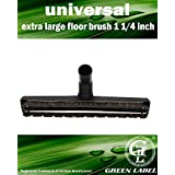 Green Label Deluxe Extra Large 14 Inch Floor Vacuum Brush. Fits All Vacuums Standard 1 1/4 inch (Hoover, Dirt Devil, Bissell, Miele, Samsung, Electrolux, Kenmore, Panasonic, Siemens, Kirby, Rainbow)