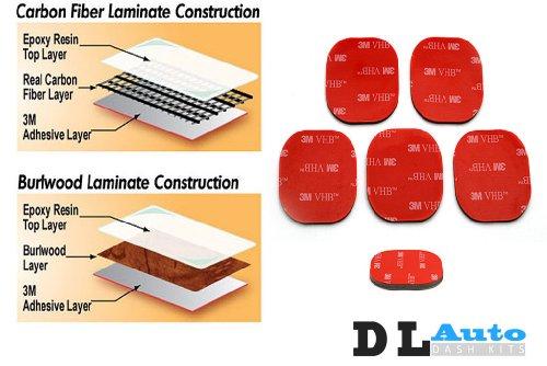 DL Auto Dash Kit GMC Sierra LT 2007 2008 2009 - Full Kit W/ Front Bench Seats W/ Chrome Inserts - Black Cherry Wood