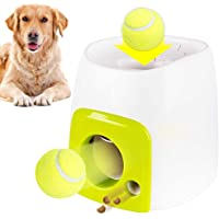 Foonee Automatic Interactive Dog Tennis Ball Launcher Thrower Machine, Pets Food Reward Machine for Indoor Outdoor Training and Playing