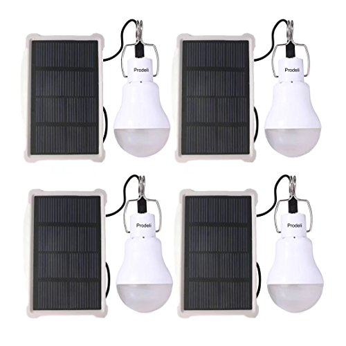 Solar Panel Powered LED Light Bulb Upgrades Portable 150L...