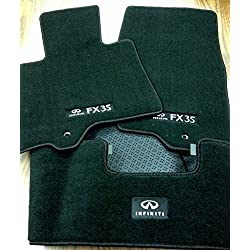 Details about 2009 to 2012 Infiniti FX35 Factory OEM Carpeted Floor Mats - Complete 3 Piece Set -BLACK