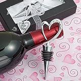 Distinctively Modern Heart Design Wine Bottle Stoppers Wedding Favors (10)