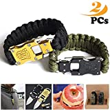 BASON Survival BraceletsNew Outdoor Small Tool BraceletAdjustable Survival Paracord Bracelet Fits Men Women