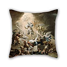pillow shams 20 x 20 inches / 50 by 50 cm(both sides) nice choice for gf,him,valentine,drawing room,club,kids girls oil painting Ricci, Sebastiano - The Resurrection