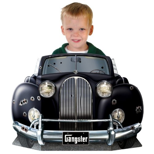 Gangster Car Photo Prop Party Accessory (1 count) (1/Pkg) (Holiday Car Costume)