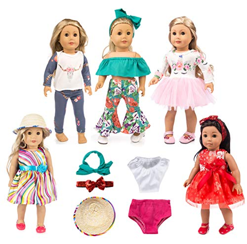 ebuddy 12pc Doll Clothes Accessories with Popular Elements Horn Style,Unicon,Elk,Christmas for 18 inch American Gril Doll,Our Generation Doll (Our Generation Doll Cloths)