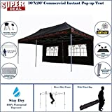10'x20' Pop UP Canopy Wedding Party Tent Instant EZ UP Canopy Black Flame - F Model Commercial Frame By DELTA