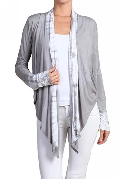 Amazon.com: chatoyant Tie Dye de la mujer chaqueta de punto ...